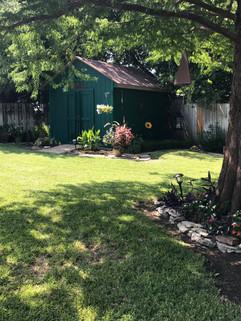 Backyard in Arlington, TX