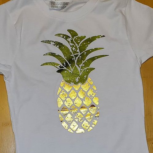 Metallic Pineapple Shirt Toddler/Girls