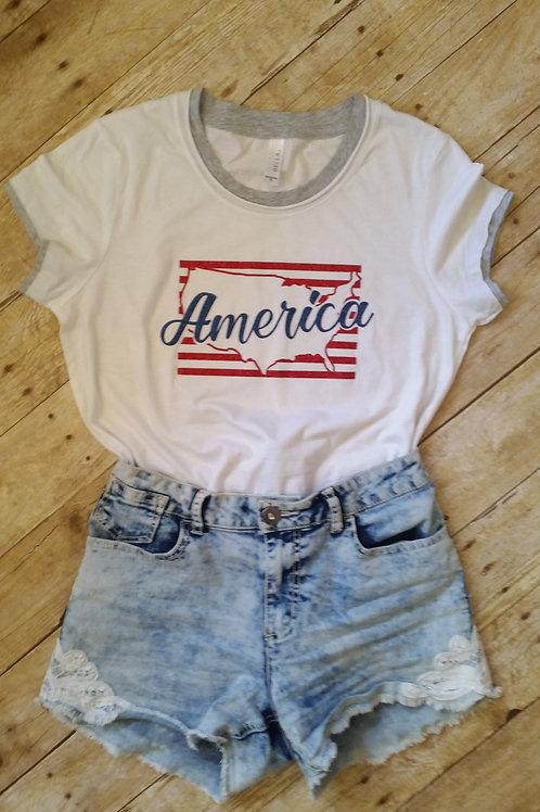 Glitter America Stripes