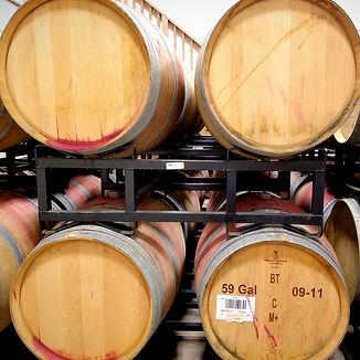 Racks of Wine Barrels