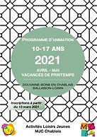 Programme Avril-Mai - Vacances de printe