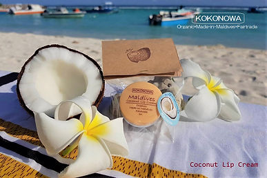 Maldives coconut lip cream
