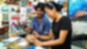 モルディブオプショナルツアー,現地発着,ココナッツ,アーティスト,絵付け,土産,モルディブ産