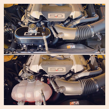 Mustang water coolant tank difference.jp