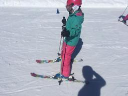 Kijk deze diva skiën dan!