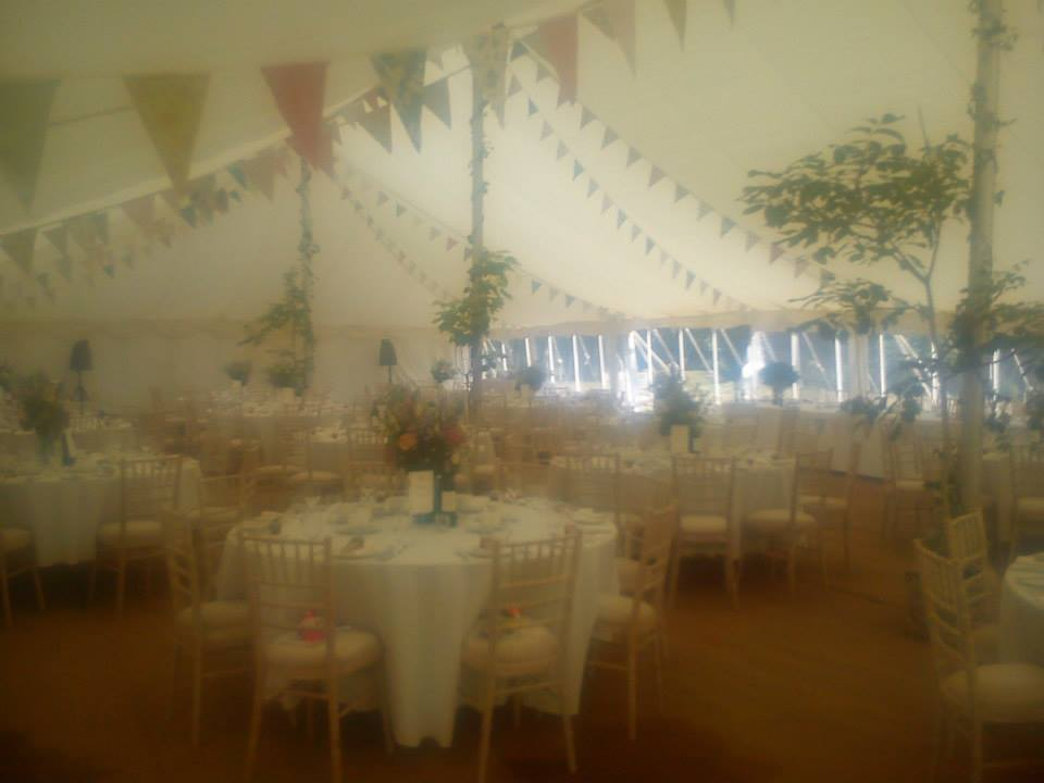 Summer marquee near Arundel