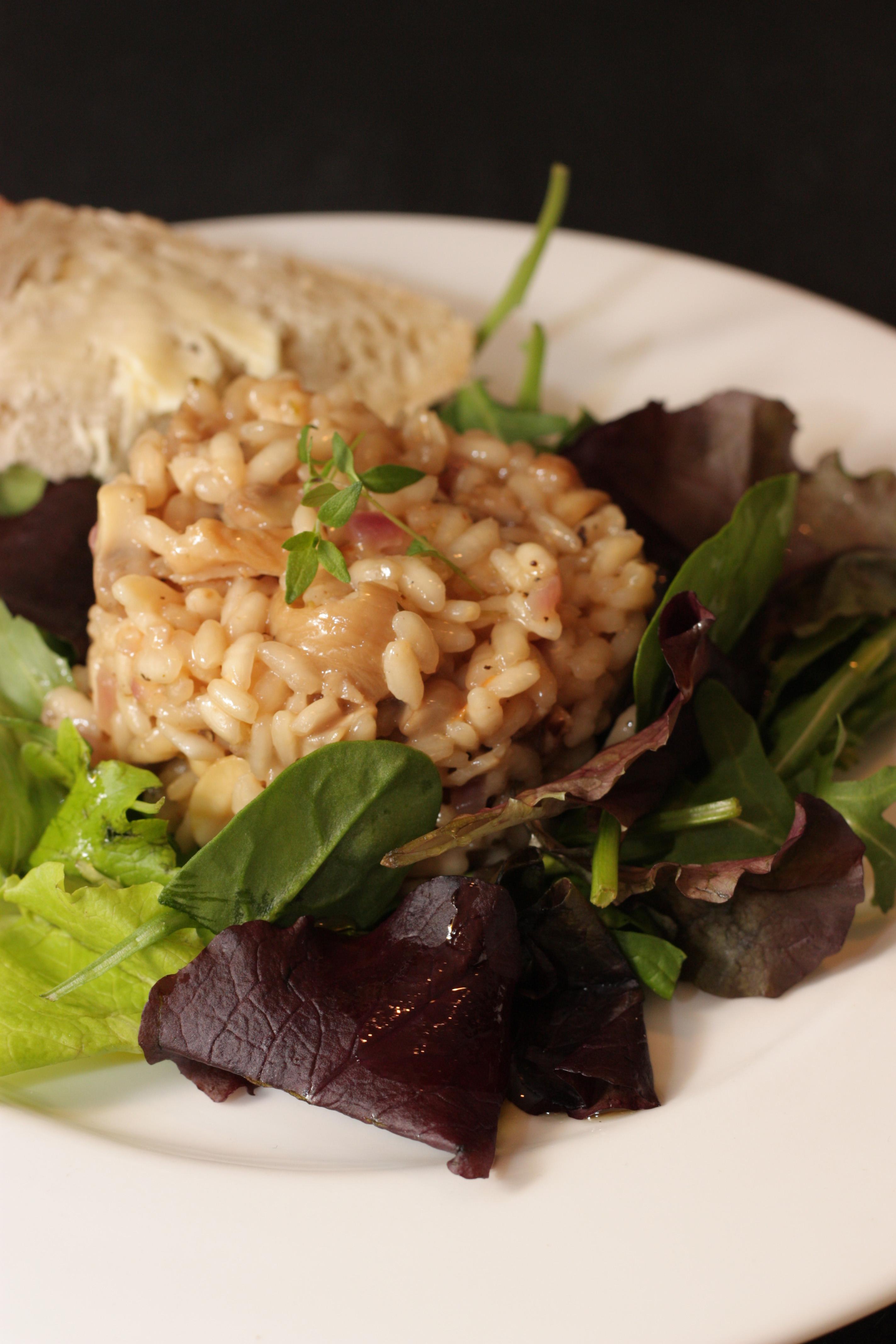Wild mushroom & truffle oil risotto