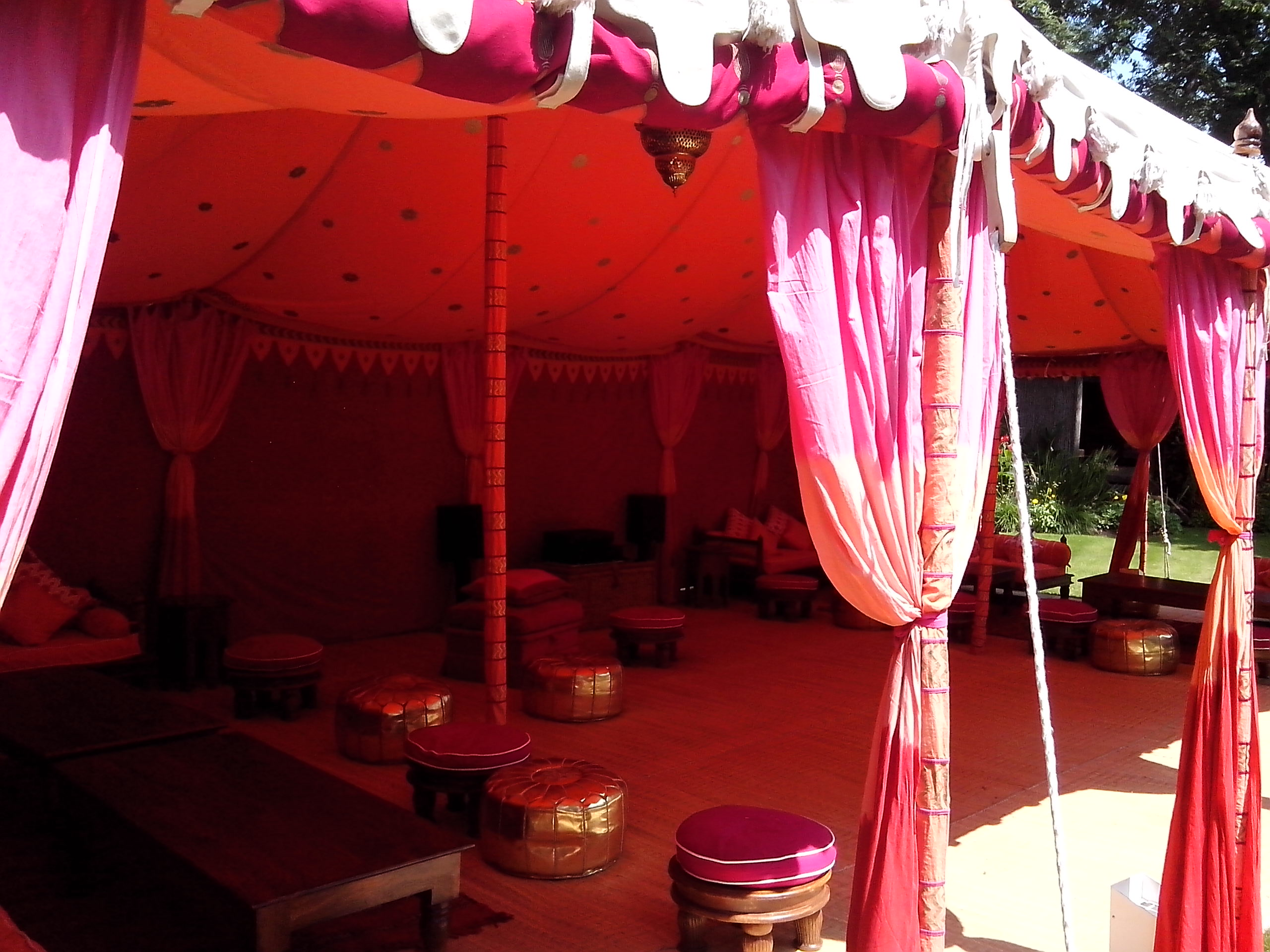 Indian Raj marquee - Dorking