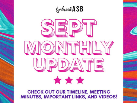 September Monthly Update