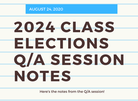 2024 Class Elections Q/A Session Notes