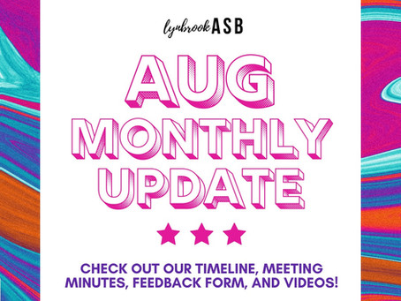 August Monthly Update