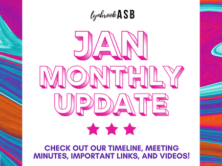 January Monthly Update