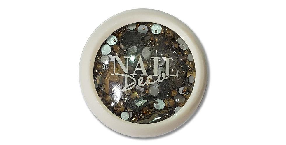 NAIL DECO -RHINESTONES GOLD