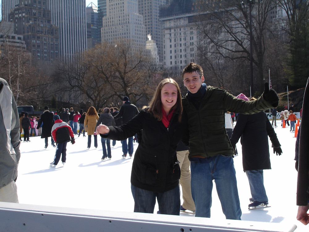 A younger version of me, ice skating in Central Park