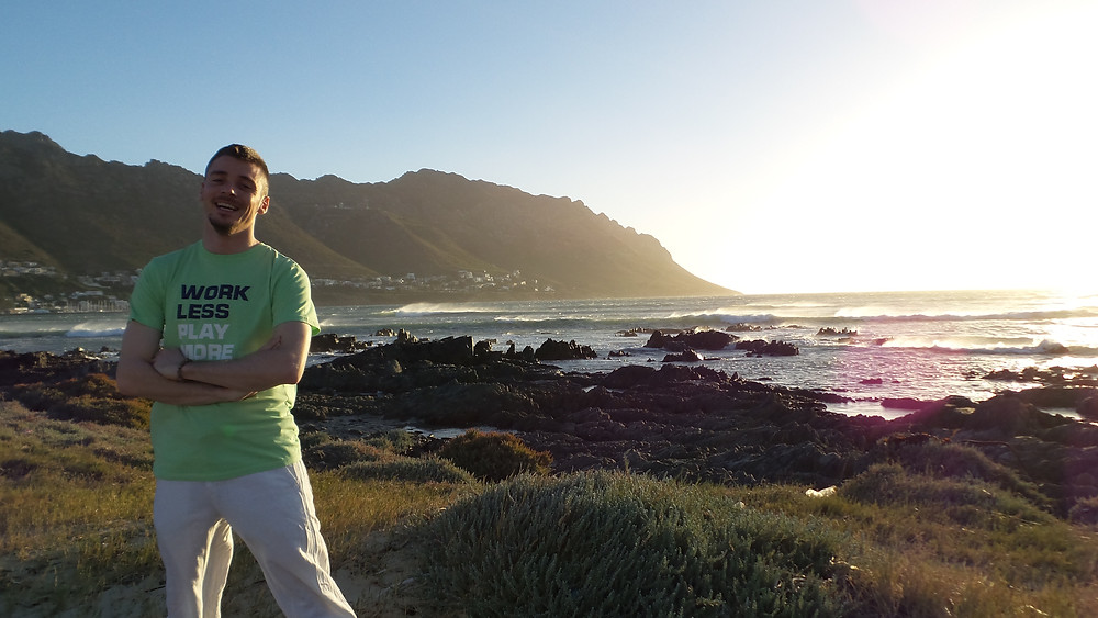 Work less, play more: Mark in Gordon's Bay