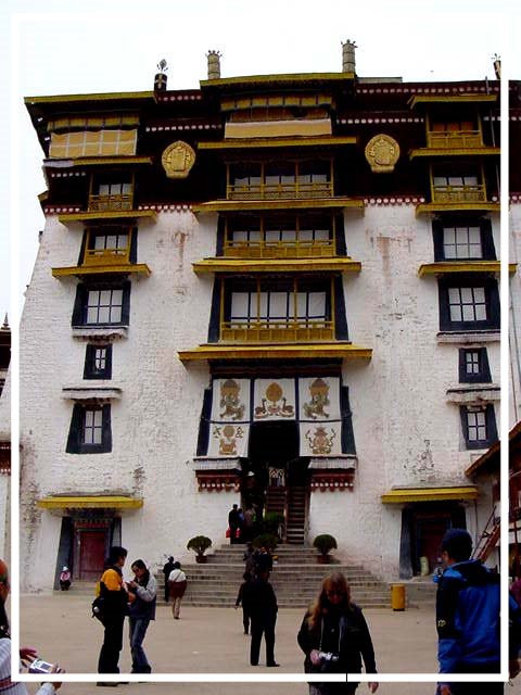 Outside the Potala Palace in Lhasa, Tibet