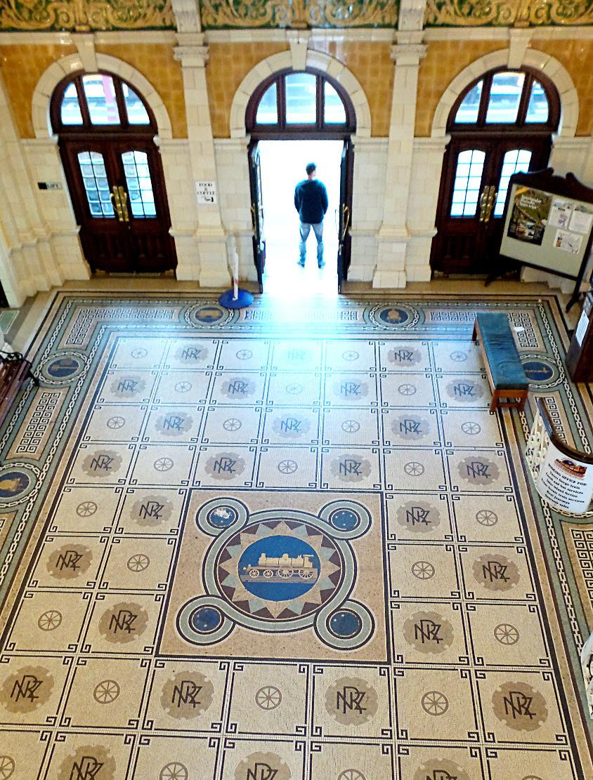 The floor of Dunedin Railway Station