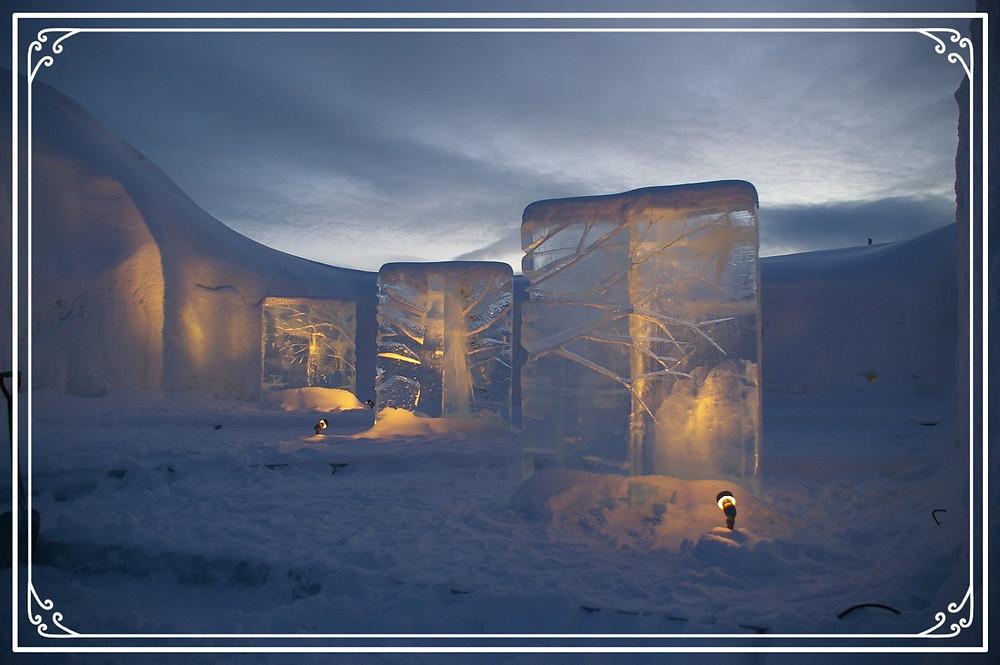 Ice Sculptures in Kiruna, Swweden