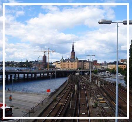 A view of Stockholm towards Slussen