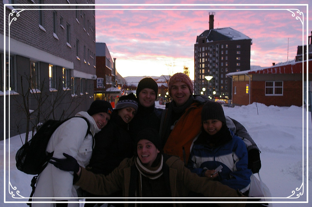 Posing for a sunset pic in Kiruna Sweden