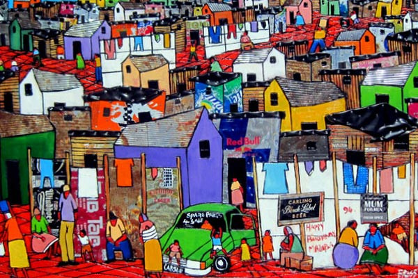 Art made by a local resident of Khayelitsha