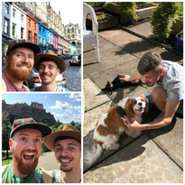 Us in Edinburgh with Lola and Leon