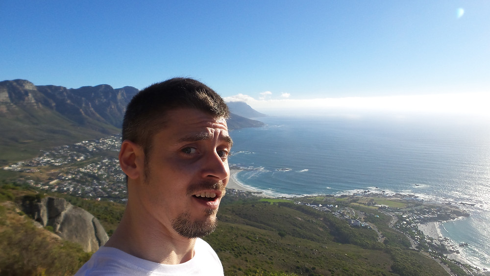 Mark looking amazed at Lion's Head