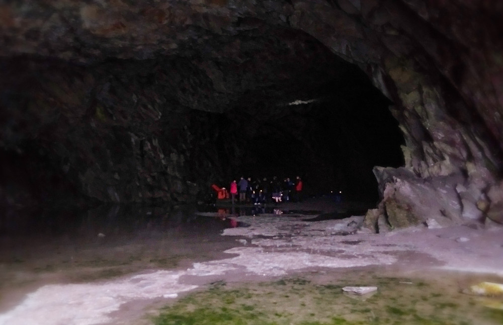 A party in Rydal Cave, Grasmere