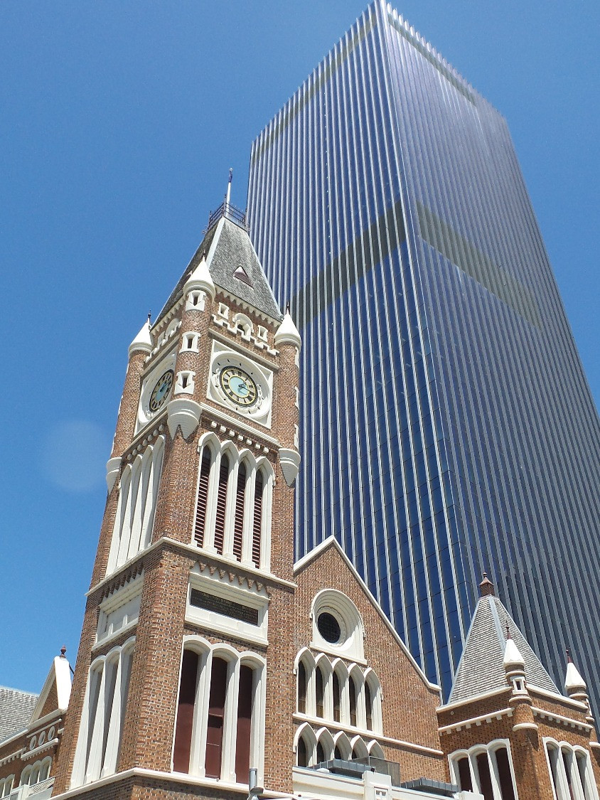 Old and new architecture in Perth WA