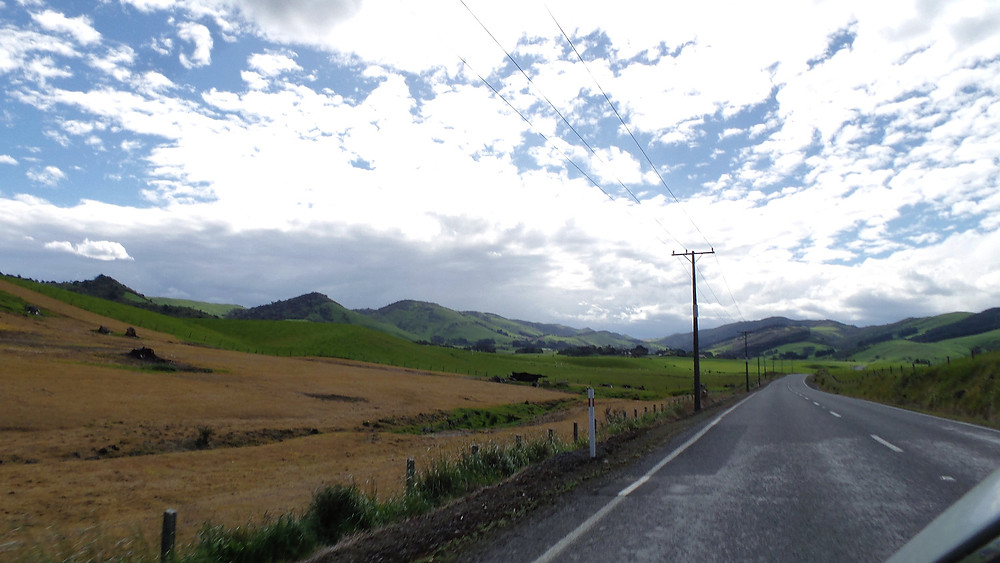 The drive through the Otago region of New Zealand