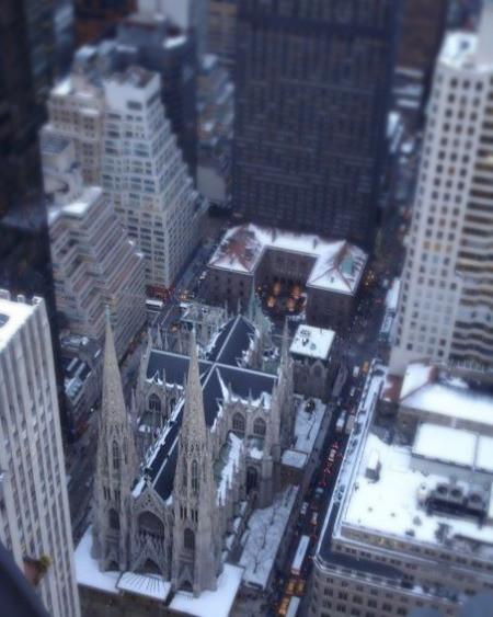 A bird's eye view into midtown Manhattan
