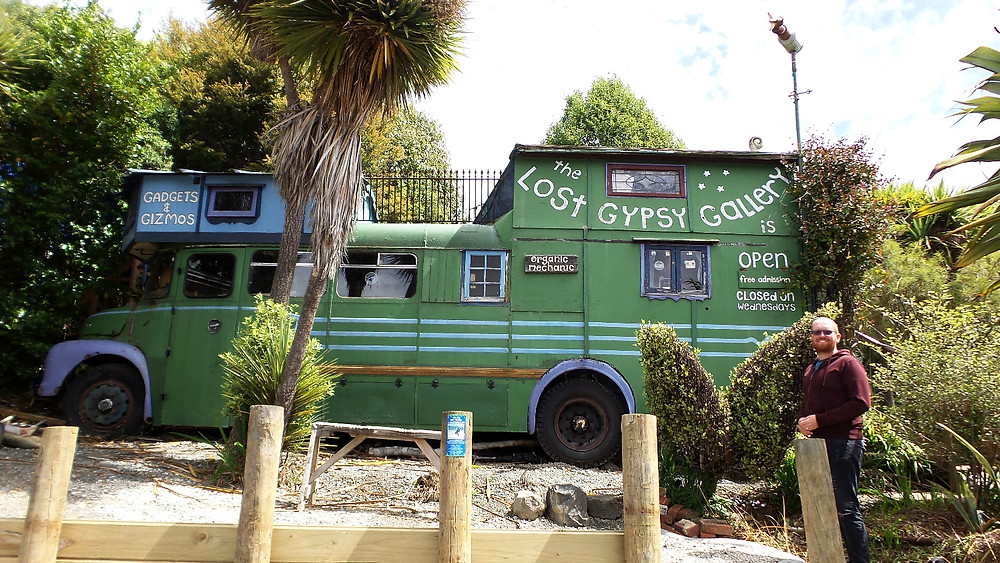 The Lost Gypsy bus gallery in the Catlins, South Island