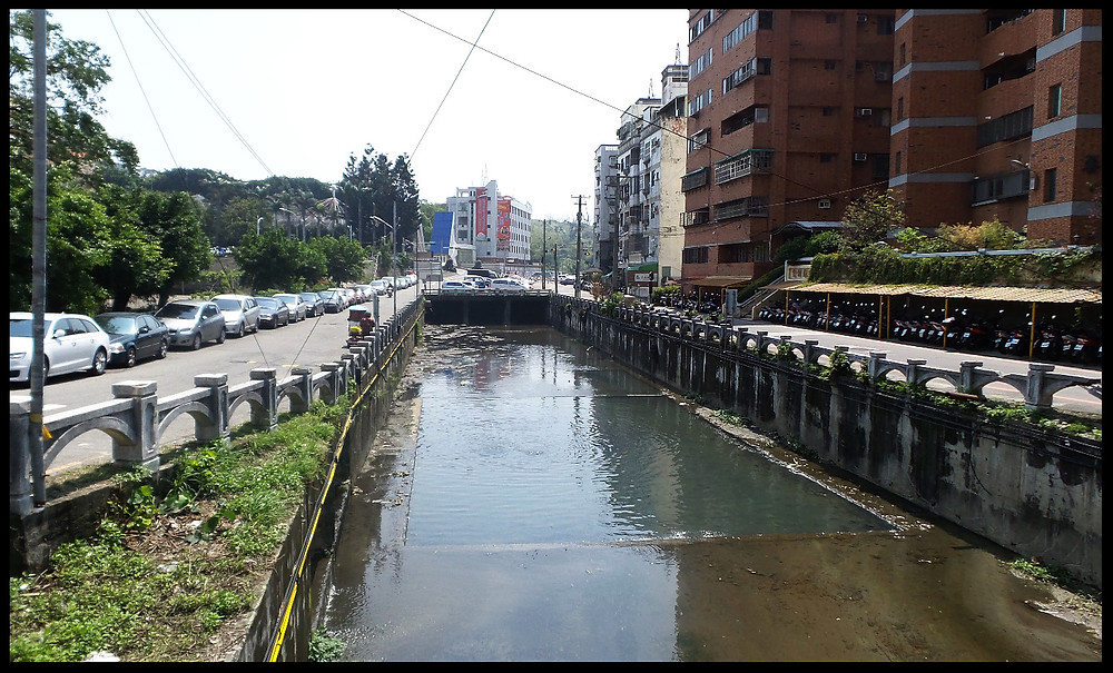 """A polluted """"river"""" in Changhua, Taiwan"""