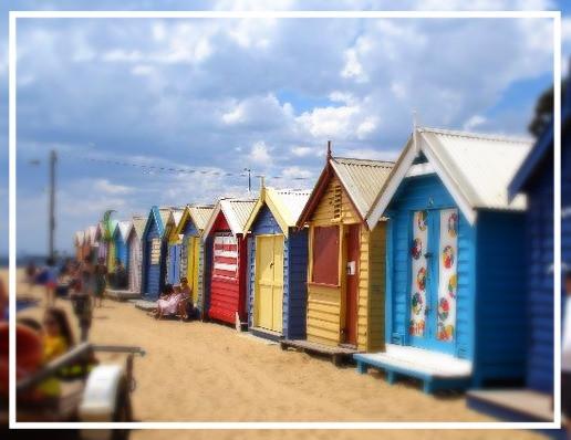 Colourful beach huts at St Kilda