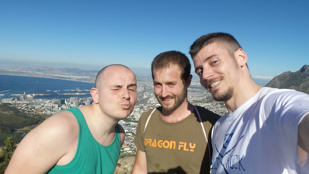 Thomas, Damian and Mark at the peak of Lion's Head