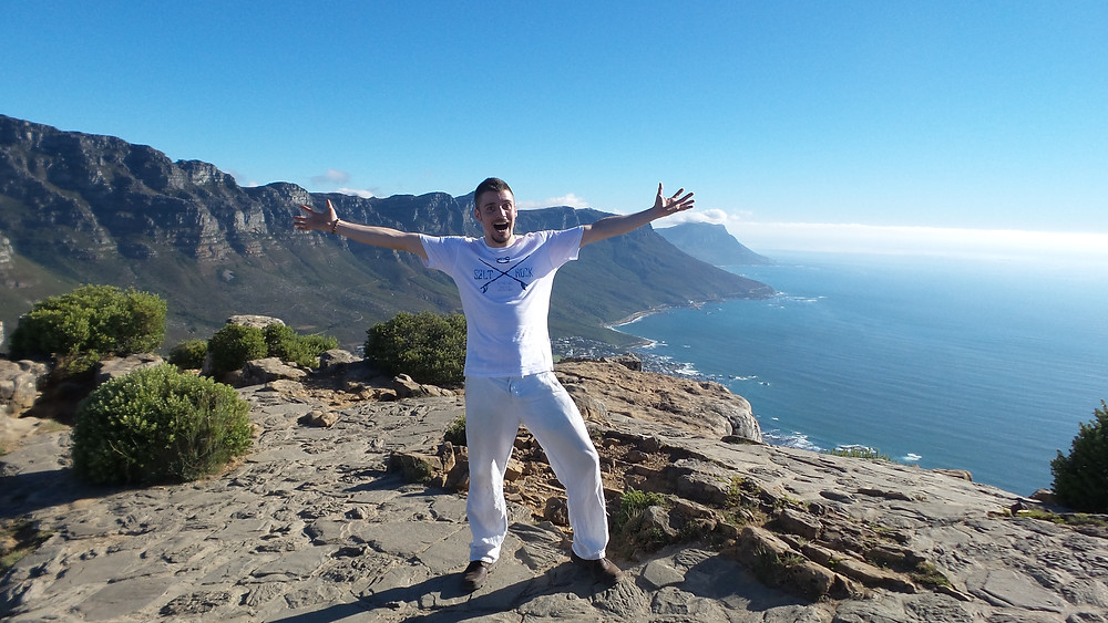 On the top of Lion's Head in Cape Town