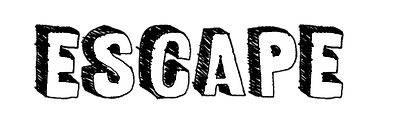 "Cartoon font for the word ""Escape"""