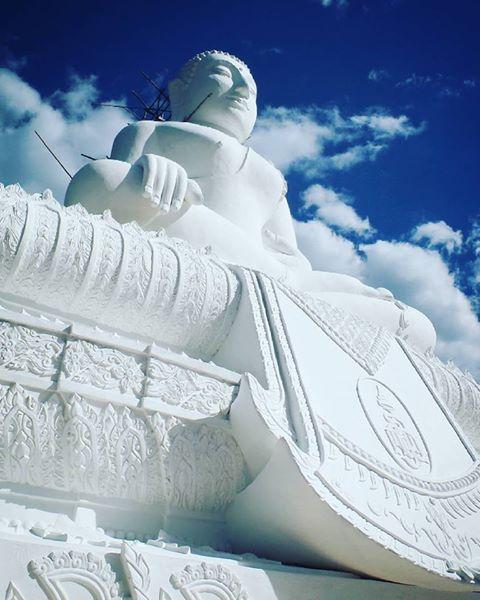 White Buddha of Pai Thailand