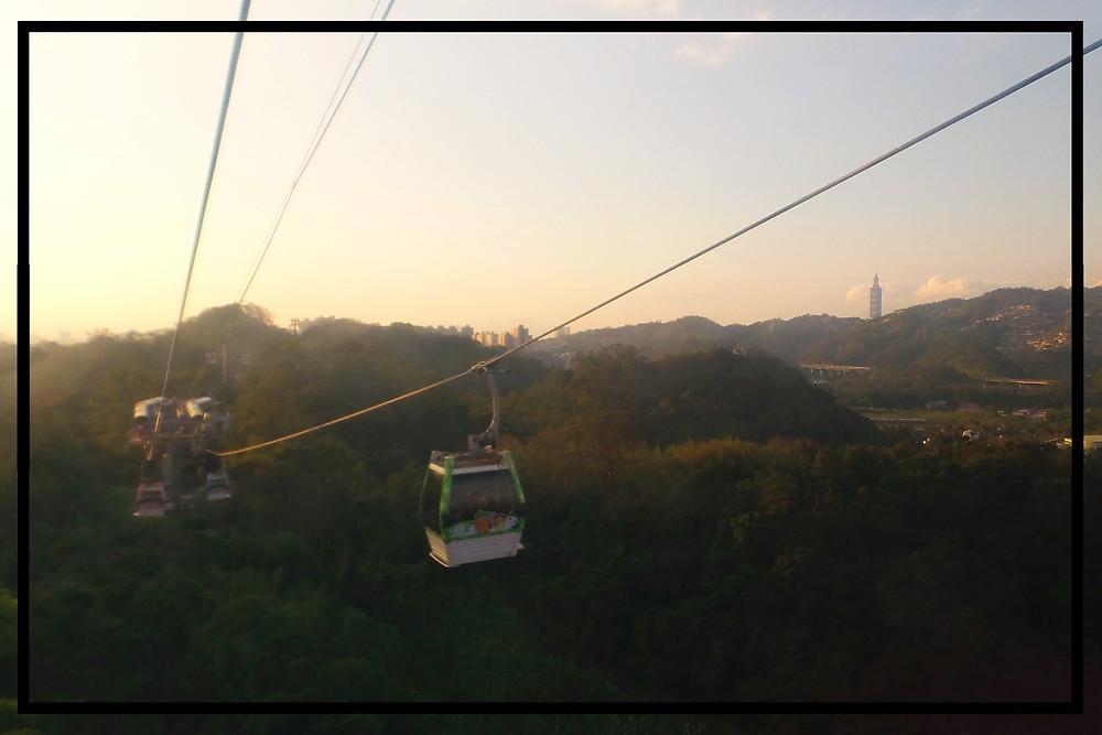 The gondola to Maokong, Taiwan