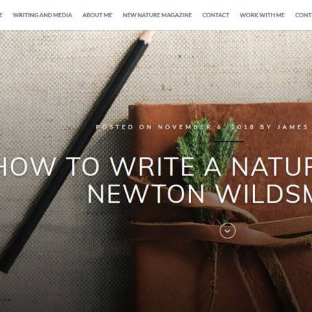 How to write a nature blog