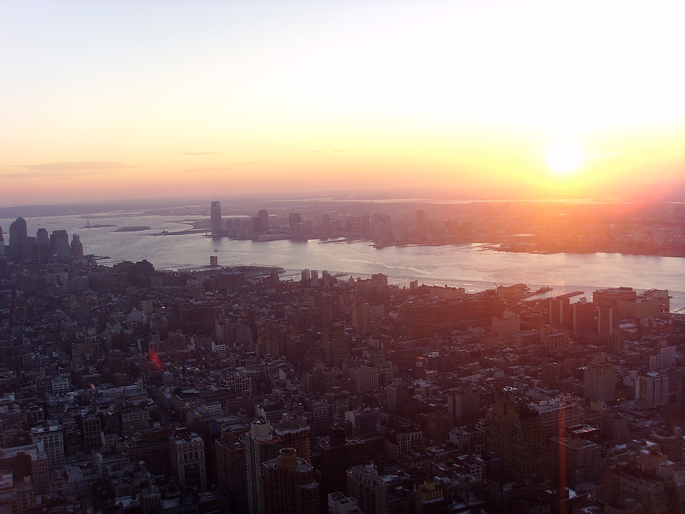 NYC view of sunset
