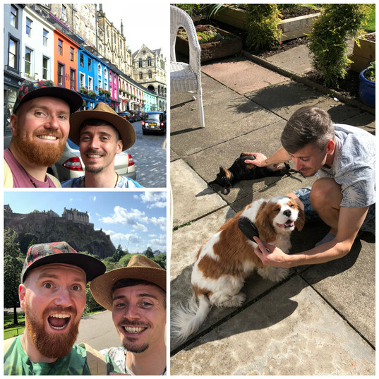 Us in Edinburgh - 2nd sit with these dogs!