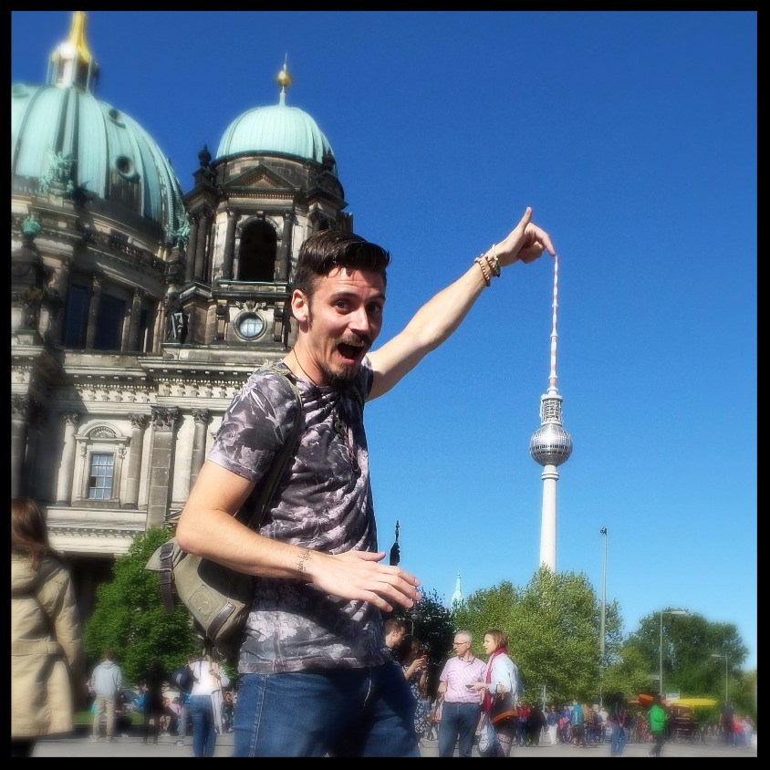 Mark tries to reach the top of the TV Tower in Berlin