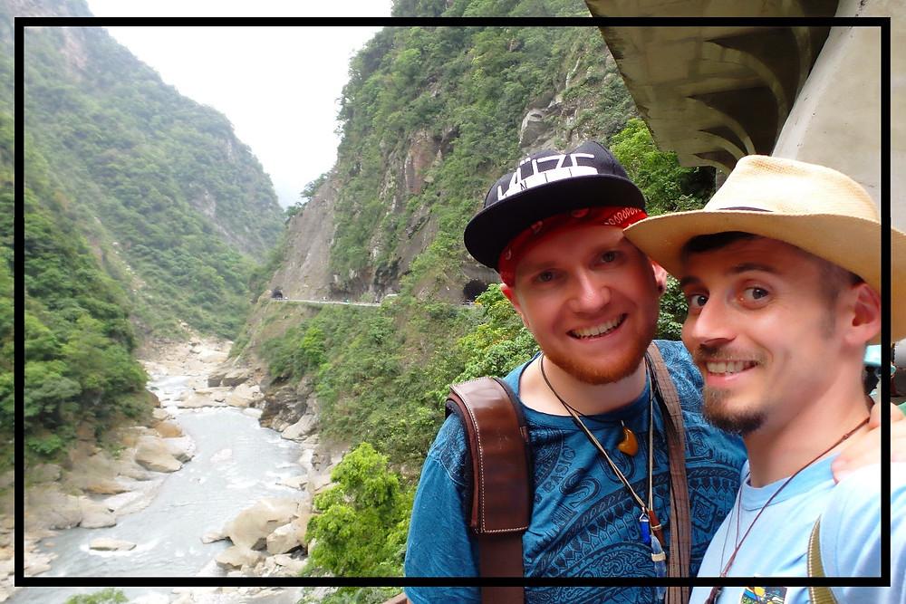 Nate and Mark at Taroko Gorge