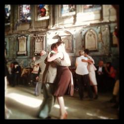 Tango dancers in London