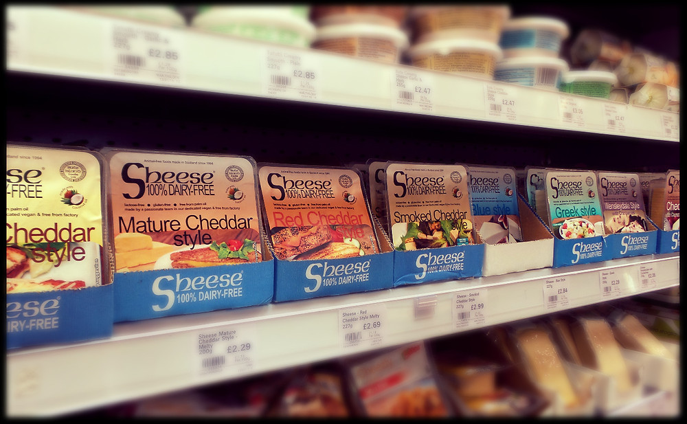Vegan cheese on sale at Infinity Foods, Brighton