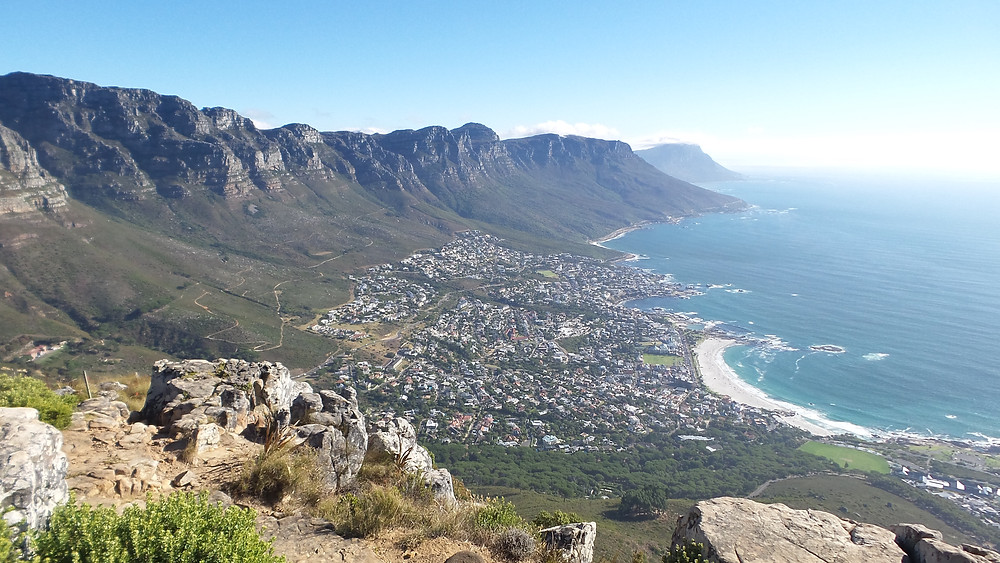 A view of the Twelve Apostles and Camps Bay from Lion's Head