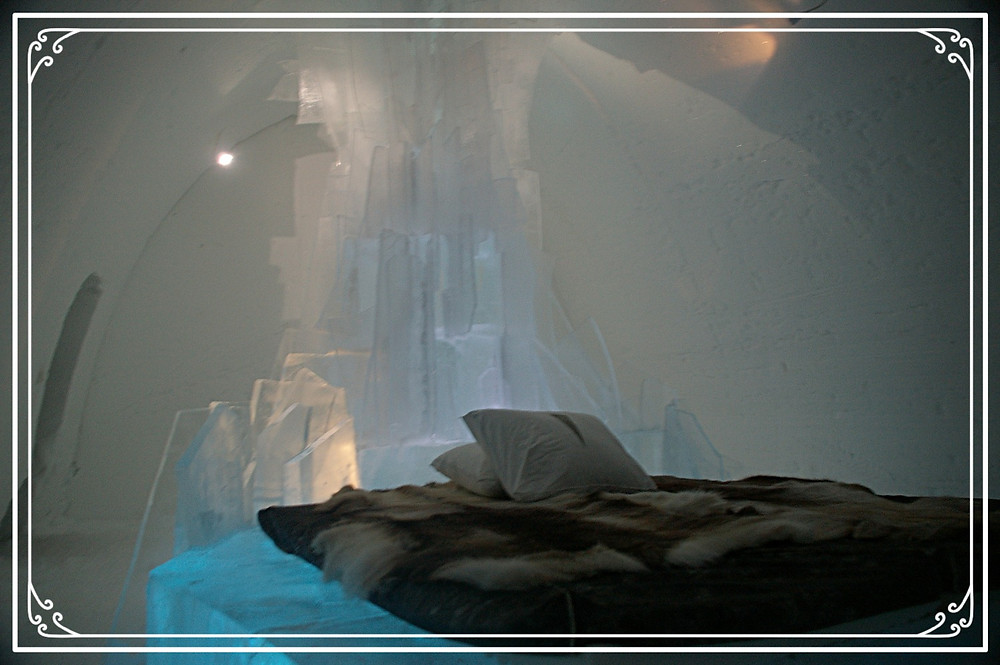 One of the ice-rooms at the Ice Hotel, Kiruna