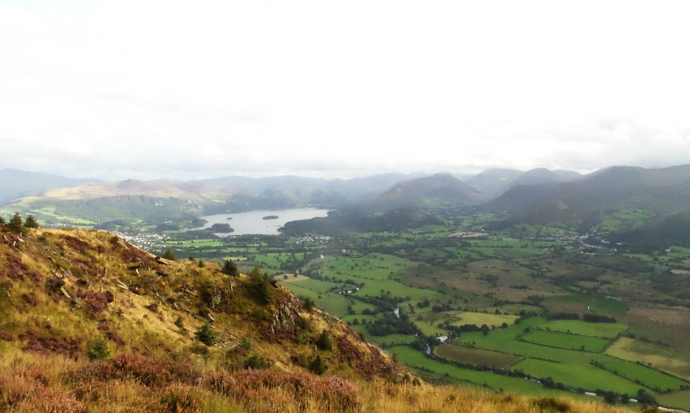 Looking out to Derwent Water in the Lake District