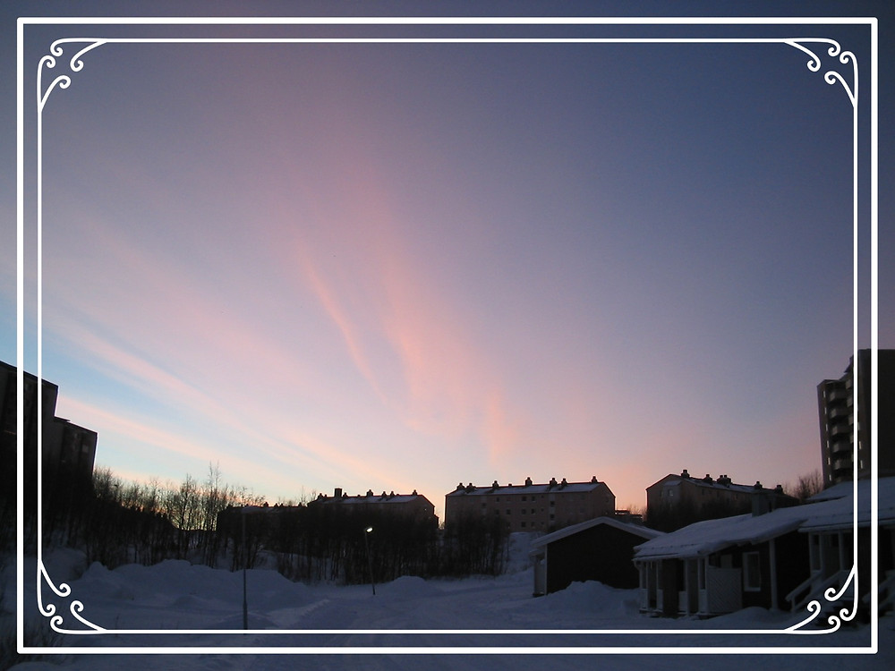 Sunset in Kiruna, Sweden